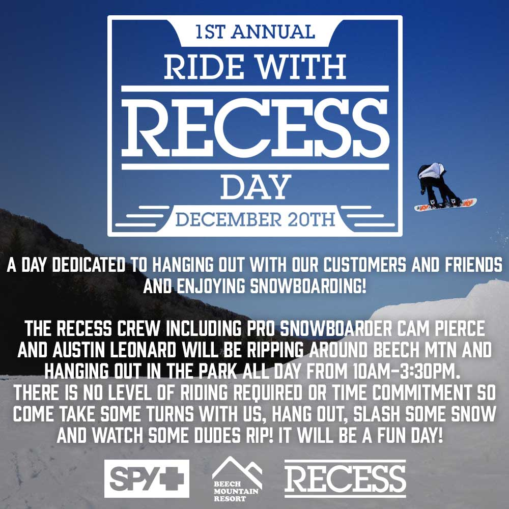 Ride with Recess Today!