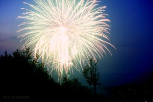 Fireworks at Beech Mountain, NC