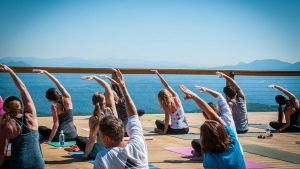 yoga @ highest bar and restaurant in the High Country