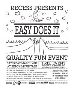recess presents easy does it