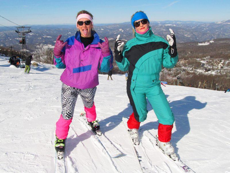 80's apparel ski parade