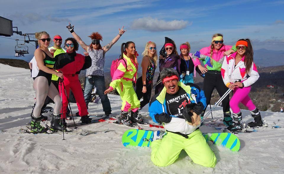 Retro '80s Ski Weekend