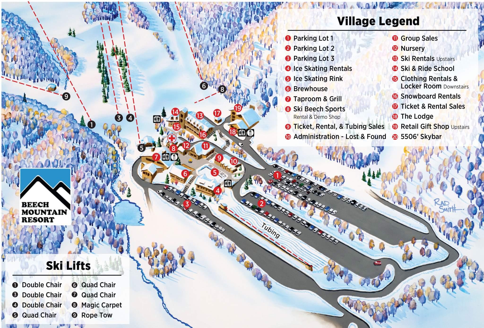 beech mountain alpine village   ice skating nc mountains